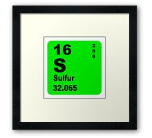 Sulfur Periodic Table of Elements Framed Print