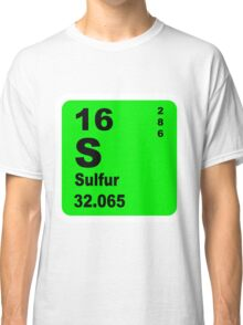 Sulfur Periodic Table of Elements Classic T-Shirt