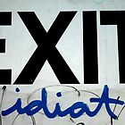 exit idiot... by Sandy Sutton