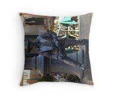 Live statue - Rome 2010 Throw Pillow
