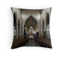 Interior: St Botolp's parish church, Boston Throw Pillow