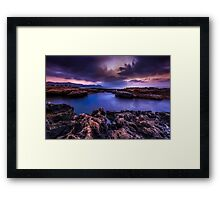 (The clouds) are darkest before the dawn Framed Print