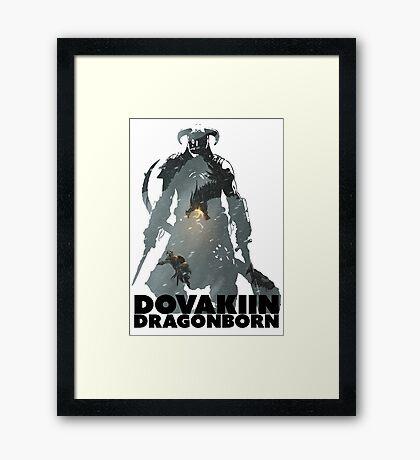 Dovakiin/Dragonborn Art Decal Framed Print