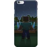 Minecraft Night Fighter iPhone Case/Skin