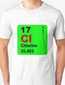 Chorine Periodic Table of Elements Unisex T-Shirt