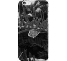 Icecles in the garden in black and white  iPhone Case/Skin