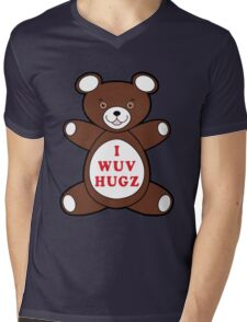 I Wuv Hugz Mens V-Neck T-Shirt
