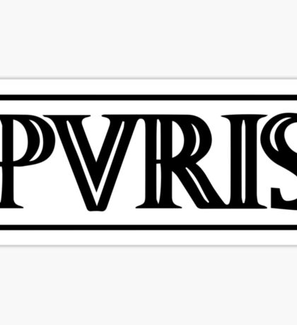 band logo black/white horizontal Sticker