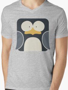 Penguin Icon Mens V-Neck T-Shirt