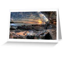 On The Edge - Warriewood Beach Headland, Sydney (35 Exposure HDR Panoramic) The HDR Experience  Greeting Card