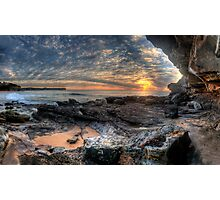 On The Edge - Warriewood Beach Headland, Sydney (35 Exposure HDR Panoramic) The HDR Experience  Photographic Print