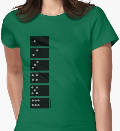 dominoes Womens Fitted T-Shirt