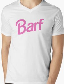 #BARF, Inspired by Barbie logo Mens V-Neck T-Shirt