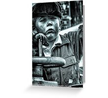 Boy on a traction engine  Greeting Card