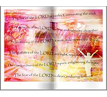Conversion of the Soul (Psalm 19) Photographic Print