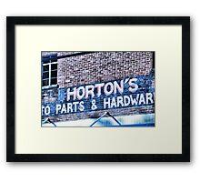 Horton's Hardware Store Framed Print