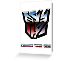 Transformers- Autobot/Decepticon Greeting Card