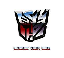 Transformers- Autobot/Decepticon Photographic Print