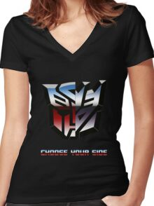 Transformers- Autobot/Decepticon Women's Fitted V-Neck T-Shirt