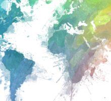 World Map splash 1 Sticker