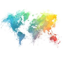 World Map splash 1 by JBJart