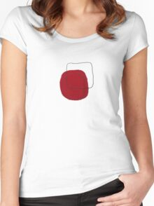 square...red Women's Fitted Scoop T-Shirt