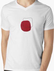 square...red Mens V-Neck T-Shirt