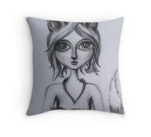 Foxy (Kitsune) Throw Pillow