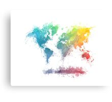 World Map splash 2 Canvas Print
