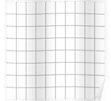 Minimalist White Grid Poster