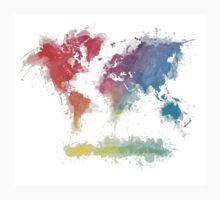 World Map splash 3 Kids Clothes