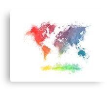 World Map splash 3 Canvas Print
