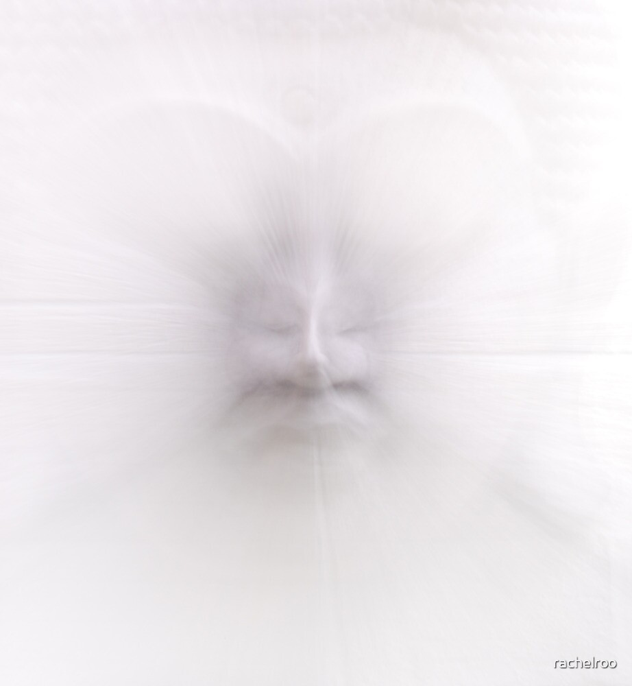 Ghostly Buddha Head by rachelroo