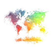 World Map splash 4 by JBJart