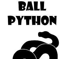 I ♥ Ball Python by Marjorie Serra