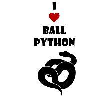 I ♥ Ball Python Photographic Print