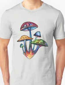 Cluster of Colored Shrooms Unisex T-Shirt