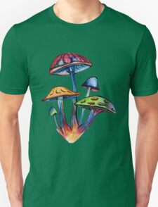 Cluster of Colored Shrooms T-Shirt