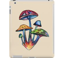 Cluster of Colored Shrooms iPad Case/Skin