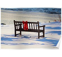 Red Bow White Snow Poster