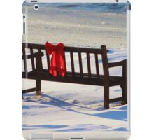 Red Bow White Snow iPad Case/Skin
