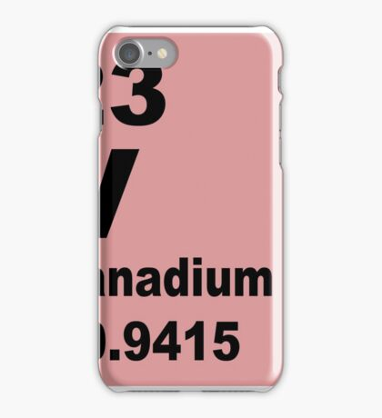 Vanadium Periodic Table of Elements iPhone Case/Skin
