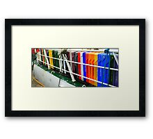 Fish Boxes Framed Print
