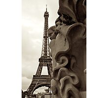 Superhero-Cape Eiffel! Photographic Print