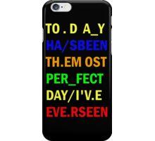 Radiohead - Videotape - Lyrics 1 iPhone Case/Skin