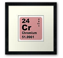 Chromium Periodic Table of Elements Framed Print