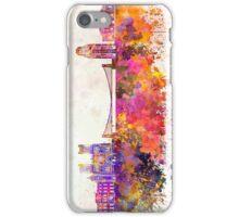 Bristol skyline in watercolor background iPhone Case/Skin