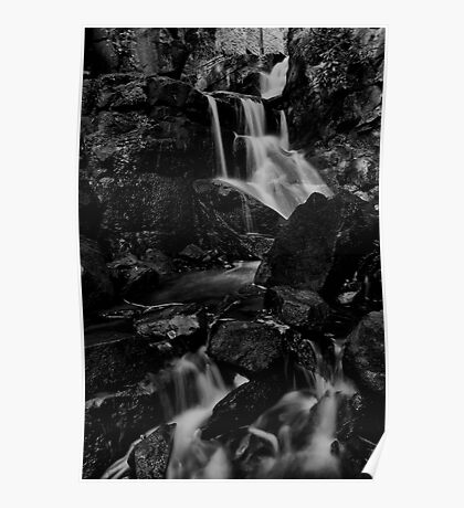Lumsdale Upper Fall B&W Poster