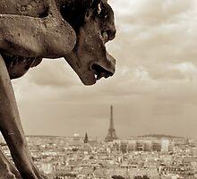 Guarding Eiffel by Gursimran Sibia