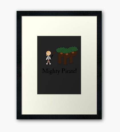 Guybrush Threepwood Mighty Pirate Framed Print